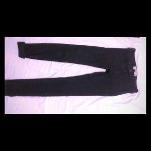 Black jeans hip hugging super skinny